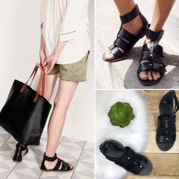 Madewell Shoes - Madewell Rowan gladiator leather sandals